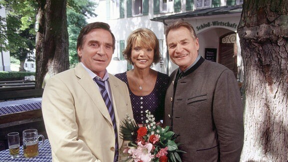 Von links nach rechts: Elmar Wepper, Uschi Glas und Fritz Wepper.