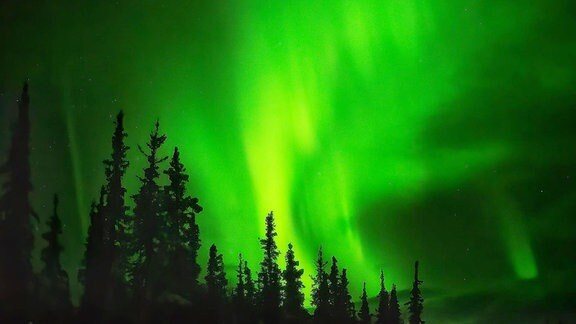 Nordlicht am Polarkreis.