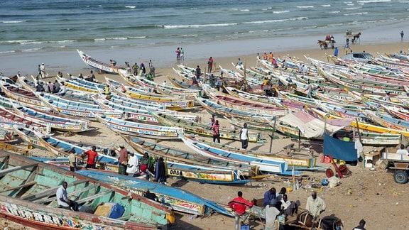 Fischmarkt im Viertel Yoff, der größte in Dakar