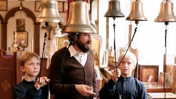 Glockenspielunterricht in russischer Schule in St.Petersburg