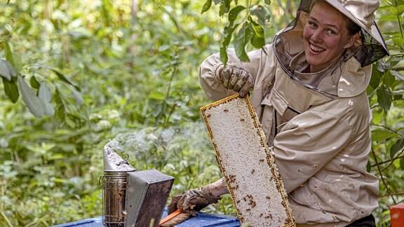 Bienenzucht und Honigproduktion auf der Insel Hiiumaa/Estland.