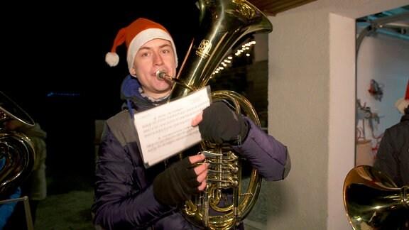 Michael Seidel von der Band Brezelbrass ist ein ehemaliger Schüler von Enrico Weller
