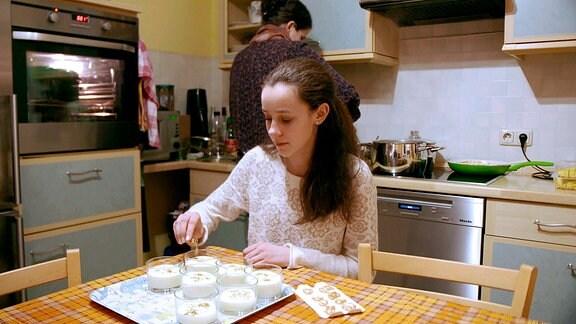 Essensvorbereitungen für den Heiligabend