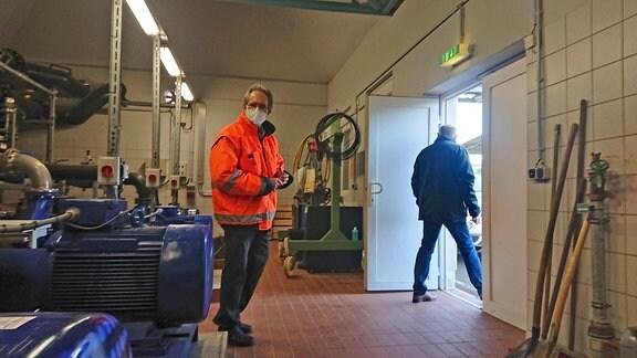 Harald Rötschke, Leiter der MDSE betreut Überwachung und Sanierung des Chemiegeländes Bitterfeld-Wolfen.