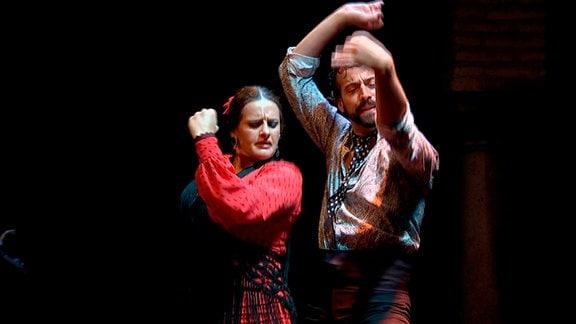 Flamencotänzer in Sevilla.