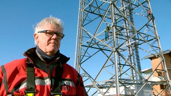 Frank Haverney leitet die Höhenrettung