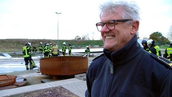 Brandoberrat und Lehrer Frank Haverney