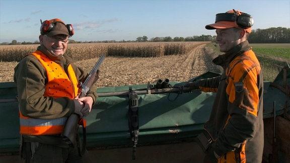 Die Wildschweine müssen aus dem Mais vertreiben werden - Jagdsaison