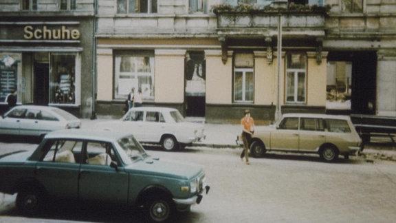 Straße im Nordosten Berlins 1982