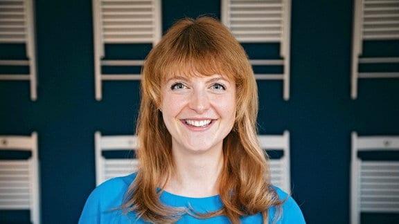 Psychotherapeutin Annelene Frey in ihrer im Jahr 2020 in Sangerhausen eröffneten Praxis.