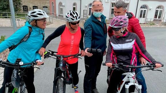 Mit dem E-Bike zur Arbeit im Erzgebirge