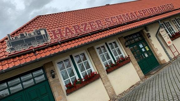 Ein Bahnhofsgebäude in Wernigerode