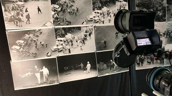 Fotos vom ersten Tag zeigen Skinheads und Jugendliche, die vor dem Vertragsarbeiterwohnheim in Hoyerswerda randalieren. (Fotos 17.9.1991).