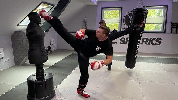Ein eigenes Studio war der Traum der Kickboxer. Im Vereinsgebäude auf der Sportanlage im Nägelstedt konnten die Kampfsportler ein Dachgeschoss ausbauen.