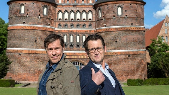 Hauptkommissar Finn Kiesewetter und Kriminaldirektor Lars Englen