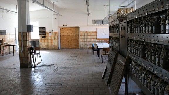Verlassene Werkhalle