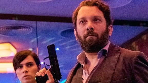 Die Kriminalhauptkommissare Kira Dorn (Nora Tschirner) und Lessing (Christian Ulmen) ermitteln.