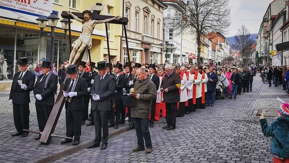 Leidensprozession zu Palmsonntag in Heiligenstadt