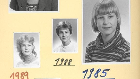 Simone Groß, Passbildervon 1982 bis 1989