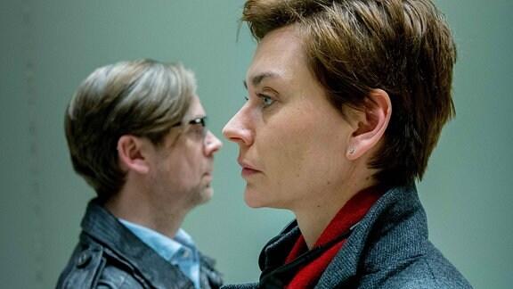 Elke Seeberg (Christiane Paul) und Tom Henskind (Matthias Matschke).