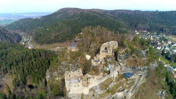 Die Burg Oybin im Zittauer Gebirge ist ein besonderer Ort für die Stuntreiter