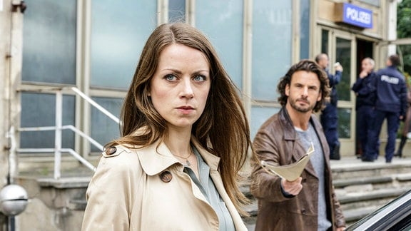 Staatsanwältin Frieda Borck (Alice Dwyer) meckert mal wieder mit Claudius Zorn (Stephan Luca).