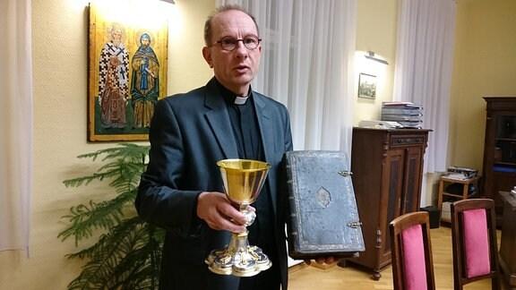 600 lětny jubilej bratrstwa swjateho Bosćana, farar Deleńk