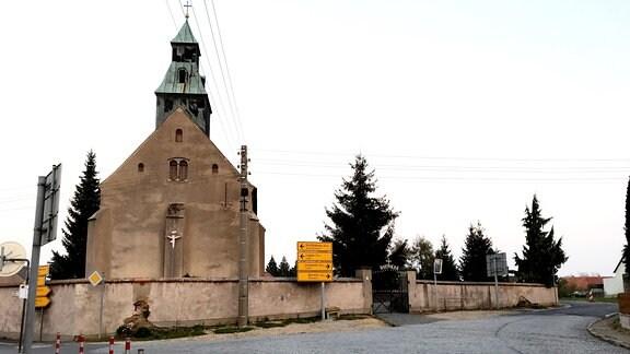 Kreuzung in Radibor