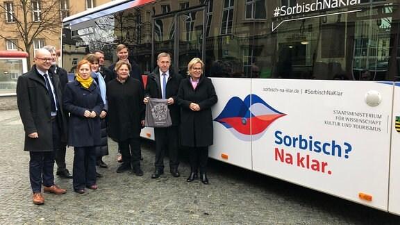 """Eröffnung der Kampagne für die sorbische Sprache """"Sorbisch?Na klar."""" in Bautzen"""