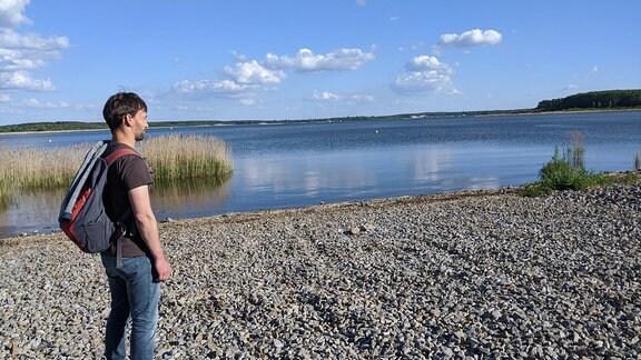 Blick auf das Lausitzer Seenland