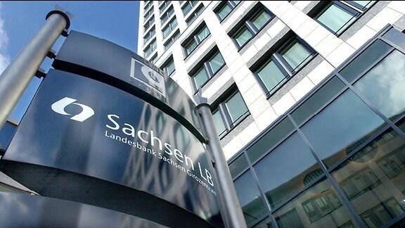 Das Gebäude der Landesbank Sachsen (Sachsen LB) in Leipzig