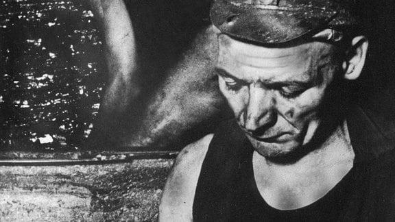 Adolf Hennecke vom Steinkohlenwerk Oelsnitz im Erzgebirge