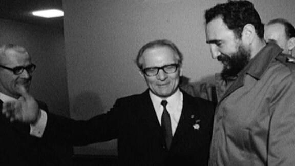 Erich Honecker und Fidel Castro