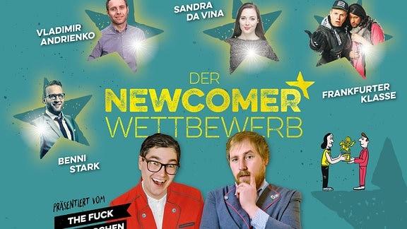 Plakat für Newcomershow der Humorzone