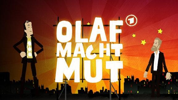 Olaf Schubert zusammen mit Julius Fischerin der Show -Olaf macht Mut-