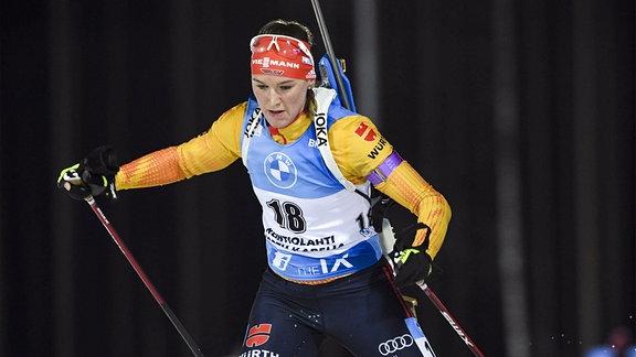 Denise Herrmann beim Weltcup in Kontiolahti