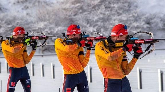Arnd Peiffer, Thomas Fratzscher und Philipp Horn
