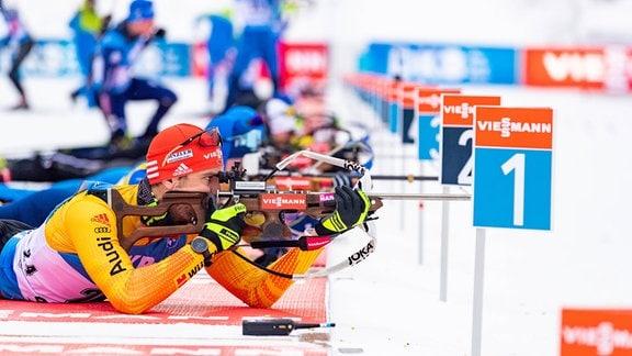 Arnd Peiffer beim Biathlon-Weltcup in Oberhof