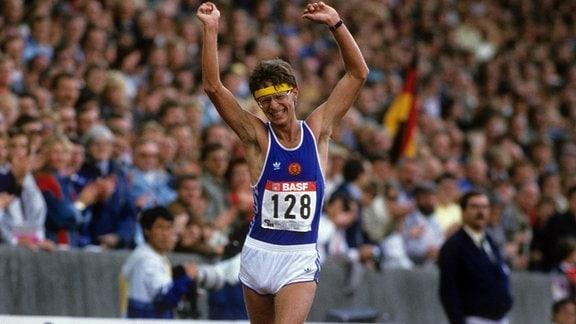 Hartwig Gauder (DDR) - Europameister über 50km Gehen bei der EM 1986 in Stuttgart