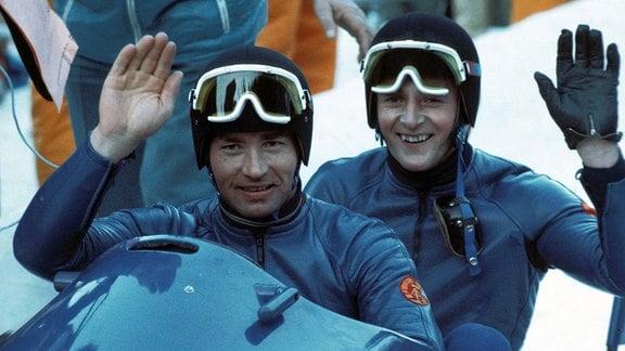 Olympiasieger Pilot Meinhard Nehmer und Bernhard Germeshausen (DDR II)