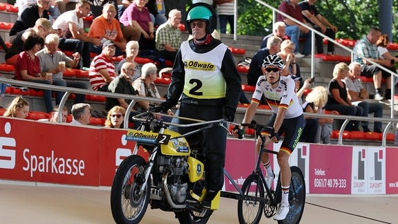 Daniel Harnisch beim Steher Cup - Radrennbahn Andreasried Erfurt