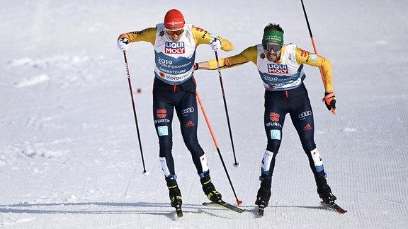 Eric Frenzel und Fabian Riessle