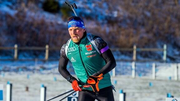Erik Lesser während Training in Oberhof.