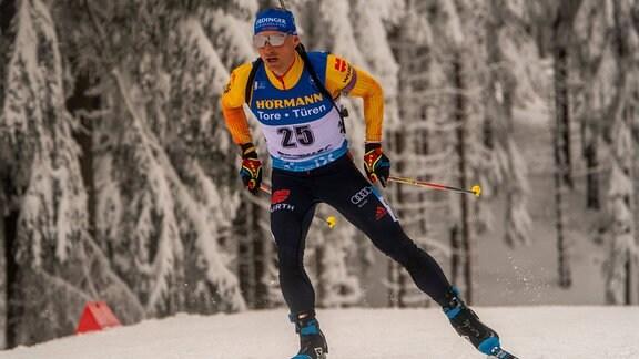 Erik Lesser beim Biathlon-Weltcup in Oberhof