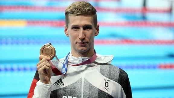 Florian Wellbrock (SC Magdeburg) holt Olympia-Bronze über 1.500 Meter