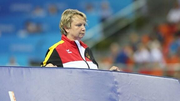 Gabriele Frehse bei einer Sportveranstaltung