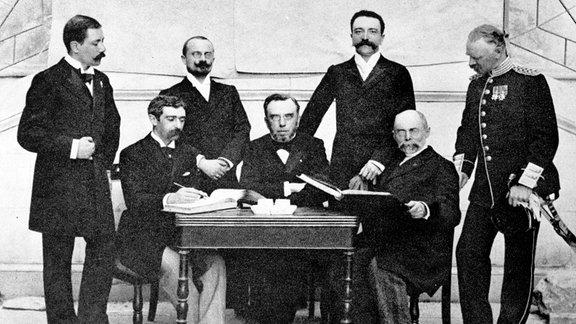 IOC-Mitglieder beim IOC-Meeting 1896