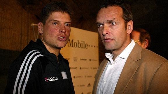 Jan Ullrich und Olaf Ludwig, 2004