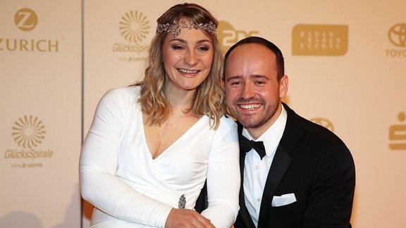 Sportler des Jahres 2018 - Kristina Vogel mit Partner Michael Seidenbecher.