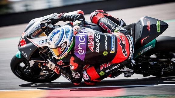 Niki Tuuli während der Moto E auf dem Sachsenring